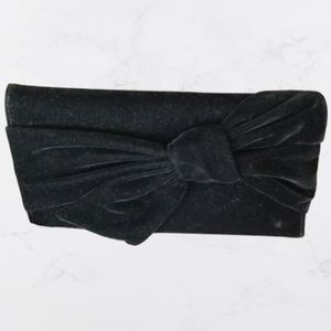 INC International Concepts Black Bow Clutch NWT
